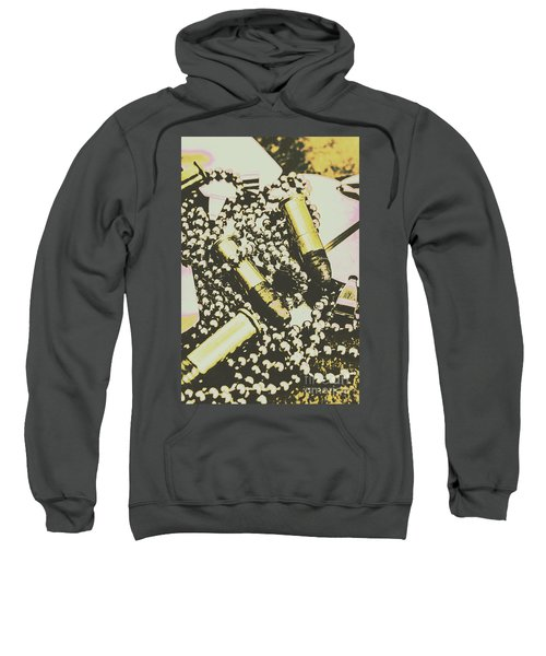 Retro Military Poster Art Sweatshirt