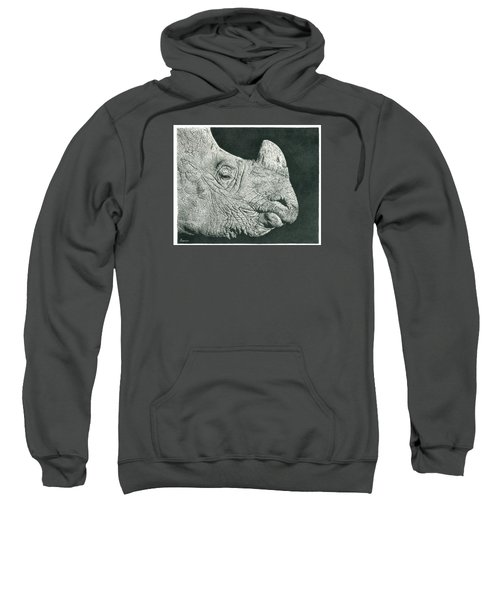 Rhino Pencil Drawing Sweatshirt