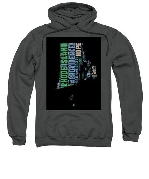 Rhode Island Word Cloud 2 Sweatshirt