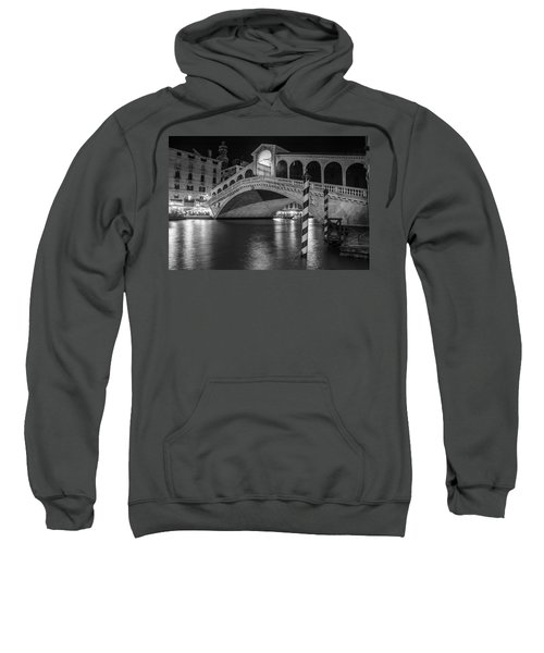 Rialto Bridge Black And White  Sweatshirt