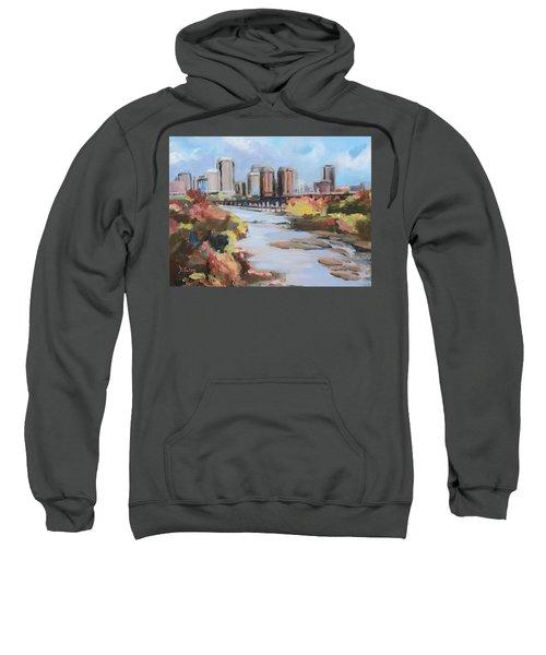 Richmond Virginia Skyline In Autumn Sweatshirt