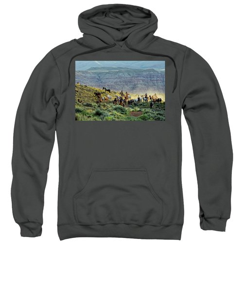Riding Out Of The Sunrise Sweatshirt