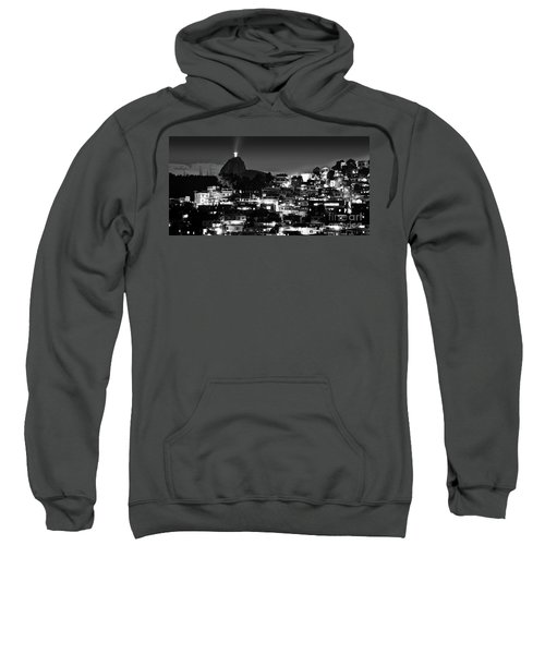 Rio De Janeiro - Christ The Redeemer On Corcovado, Mountains And Slums Sweatshirt