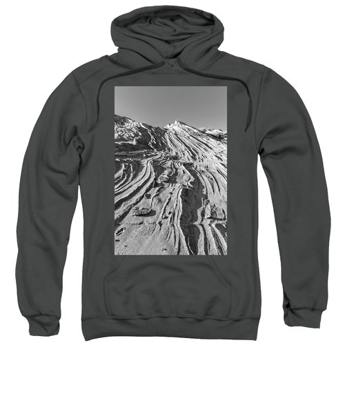 Rippled Sandstone At Waterhole Canyon Sweatshirt