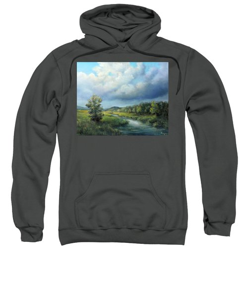 River Landscape Spring After The Rain Sweatshirt