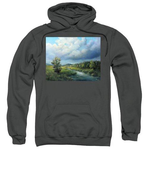 River Landscape Spring After The Rain Sweatshirt