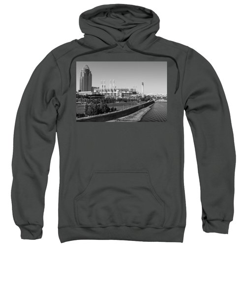 Riverfront Stadium Black And White  Sweatshirt