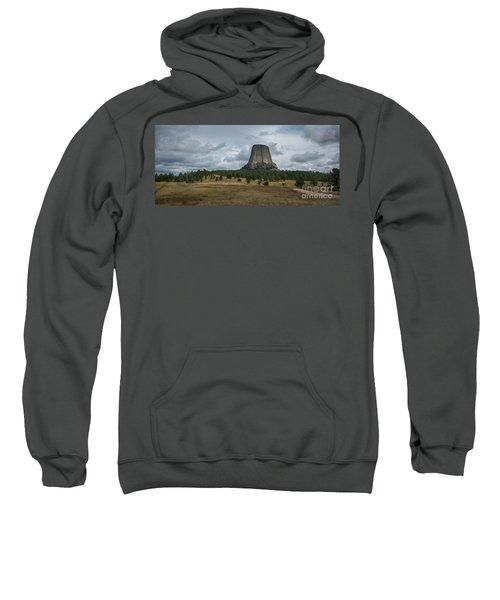 Road To Devils Tower Panorama Sweatshirt