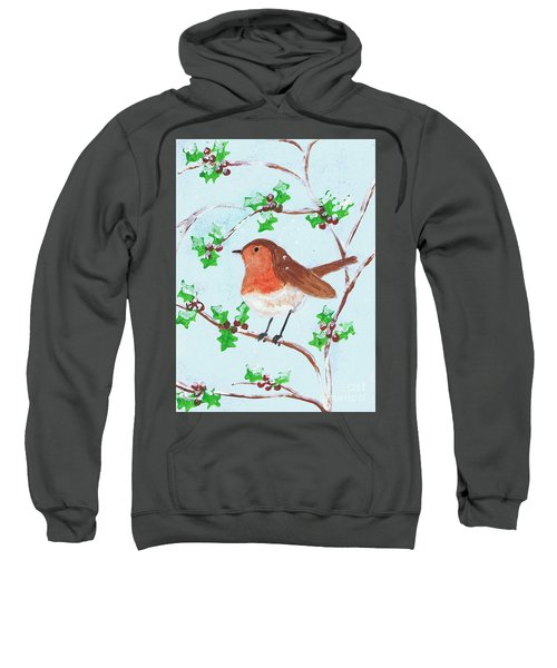 Robin In A Holly Bush Sweatshirt