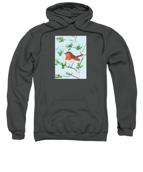 Robin In A Holly Bush Sweatshirt