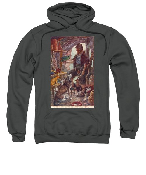Robinson Crusoe And His Pets. From Sweatshirt
