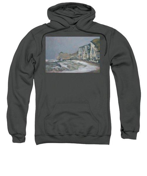 Rock Of Amont Etretat After The Rain Sweatshirt