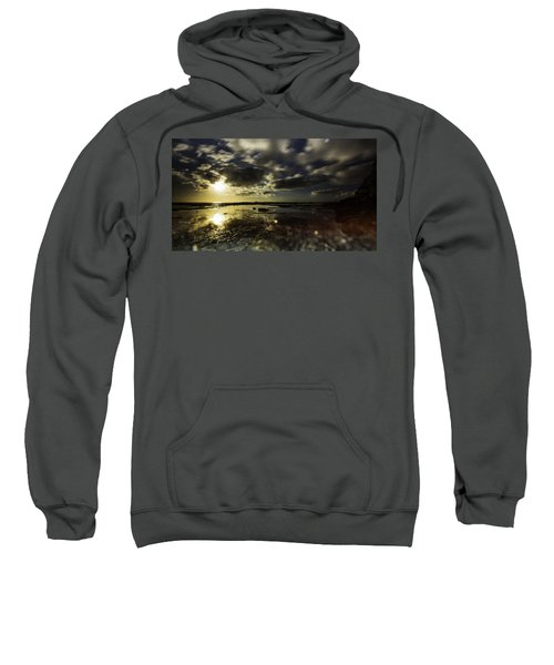Sweatshirt featuring the photograph Rock Pool Sunrise by Chris Cousins