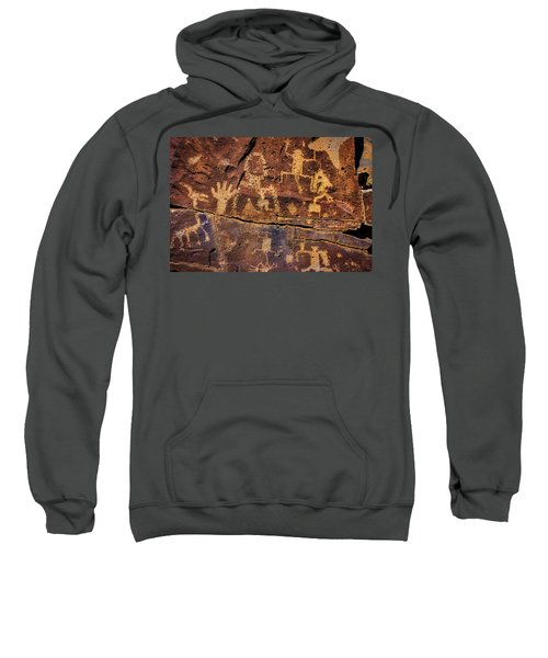 Rock Wall Of Petroglyphs Sweatshirt