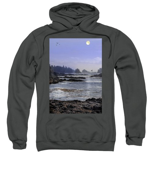 Rocks And Moon And Water Sweatshirt