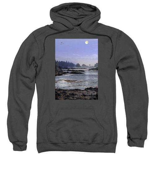 Rocks And Moon And Water Sweatshirt