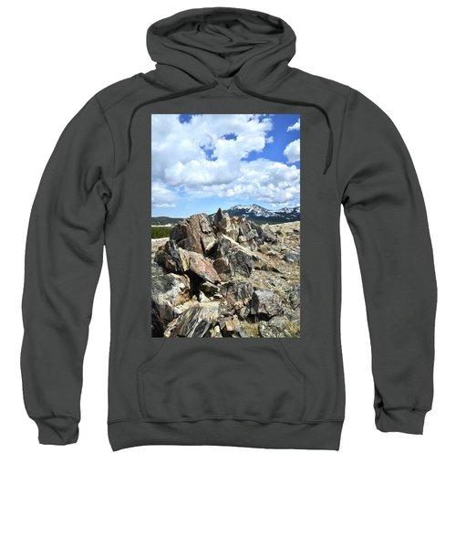 Rocky Crest At Big Horn Pass Sweatshirt