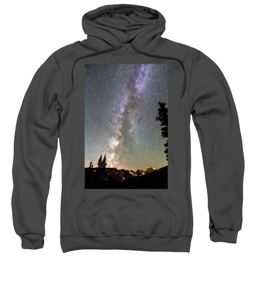 Rocky Mountain Milky Way And Falling Star Sweatshirt