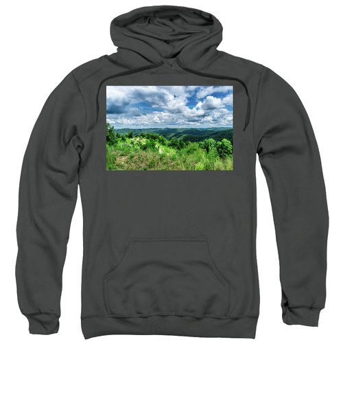 Rolling Hills And Puffy Clouds Sweatshirt