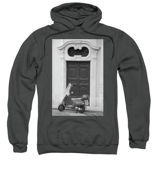 Roma Vespa And Door  Sweatshirt