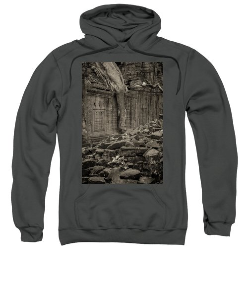 Sweatshirt featuring the photograph Roots In Ruins 6, Ta Prohm, 2014 by Hitendra SINKAR