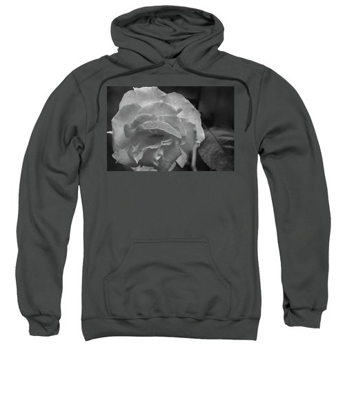 Rose In Black And White Sweatshirt