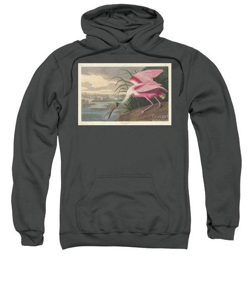 Roseate Spoonbill, 1836  Sweatshirt by John James Audubon