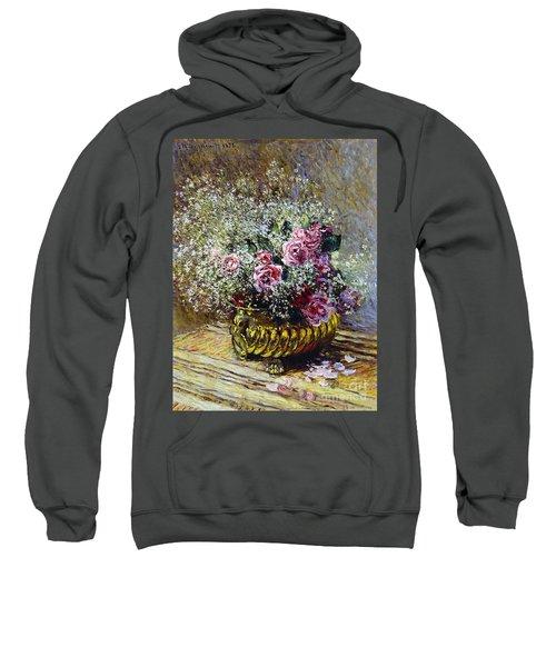 Roses In A Copper Vase Sweatshirt