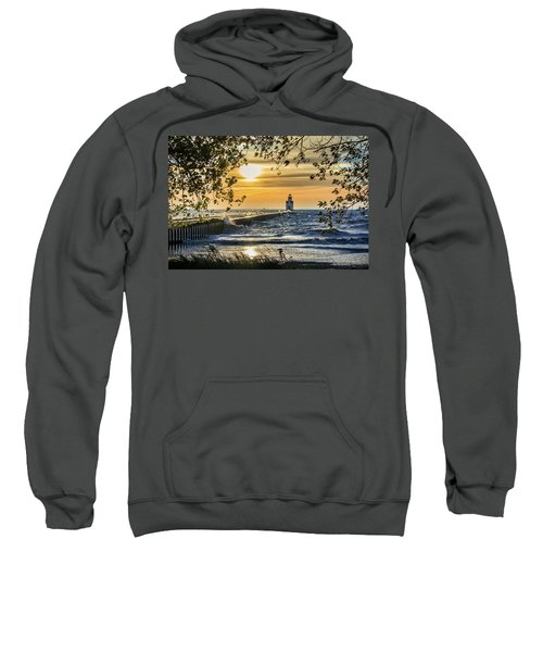 Sweatshirt featuring the photograph Rough Opening by Bill Pevlor