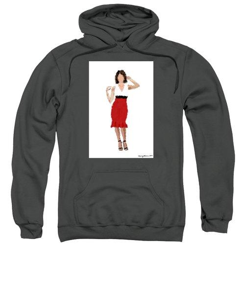 Sweatshirt featuring the digital art Ruby by Nancy Levan