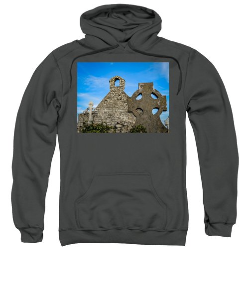 Sweatshirt featuring the photograph Ruins At 12th Century Killone Abbey by James Truett