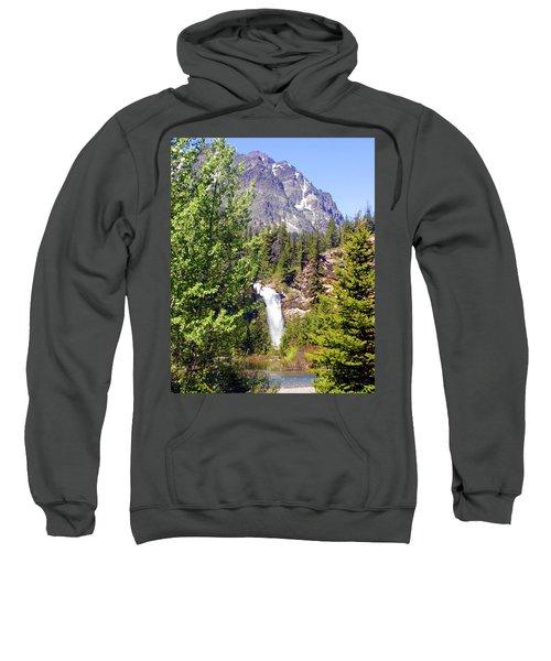 Running Eagle Falls Glacier National Park Sweatshirt
