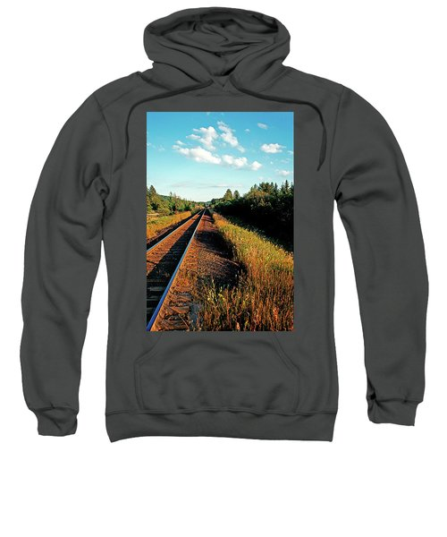 Rural Country Side Train Tracks Sweatshirt