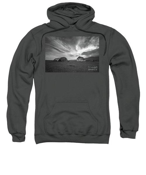 Rural Decay In Iceland Bw Sweatshirt