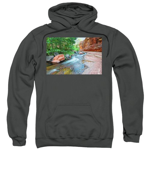 Rushing Waters At Slide Rock State Park Oak Creek State Park - Sedona Northern Arizona Sweatshirt