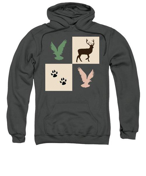 Rustic Wildlife Pattern Sweatshirt