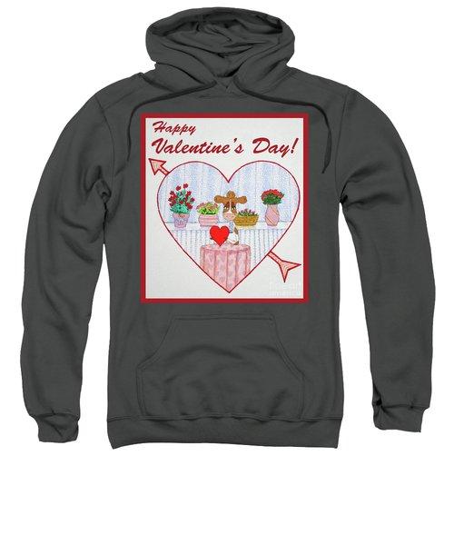Ruthie-moo Happy Valentine's Day Sweatshirt