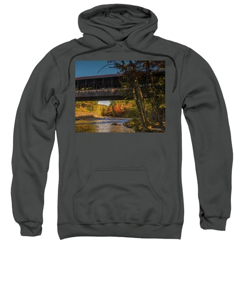 Saco River Covered Bridge Sweatshirt