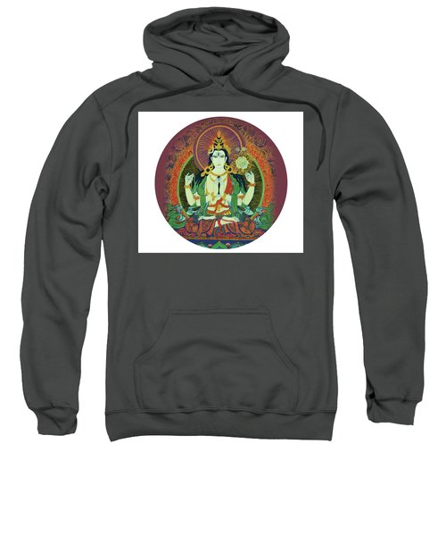 Sweatshirt featuring the painting Sada Shiva  by Guruji Aruneshvar Paris Art Curator Katrin Suter