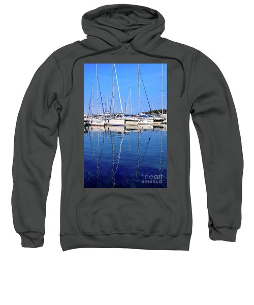 Sailboat Reflections - Rovinj, Croatia  Sweatshirt