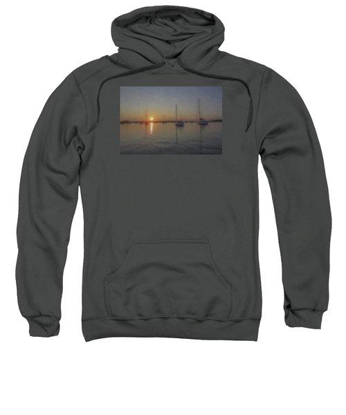 Sailboats At Sunset Sweatshirt