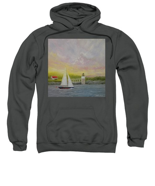 Sailing By Ram Island Sweatshirt