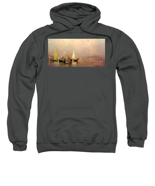 Sailing Fishermen Boats In Naples Sweatshirt