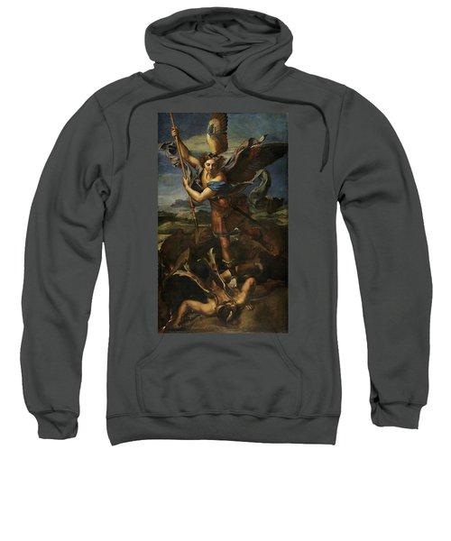 Saint Michael Defeats Satan Sweatshirt