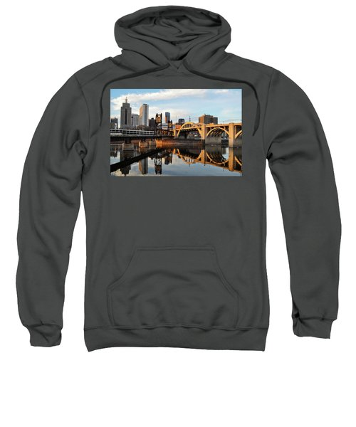 Saint Paul Mississippi River Sunset Sweatshirt
