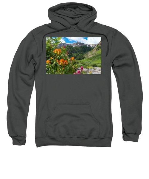 San Juans Indian Paintbrush Landscape Sweatshirt