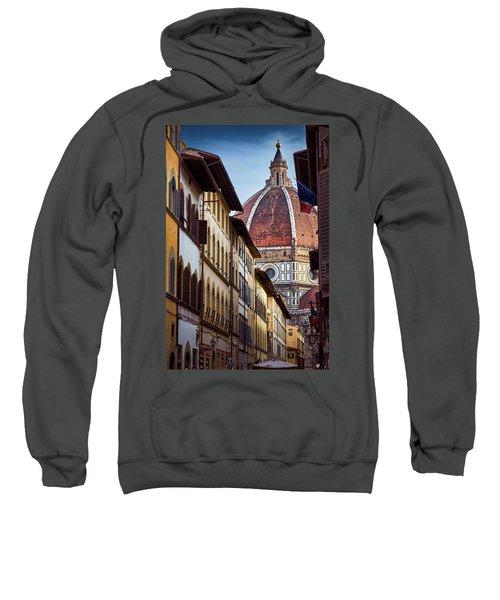 Santa Maria Del Fiore From Via Dei Servi Street In Florence, Italy Sweatshirt