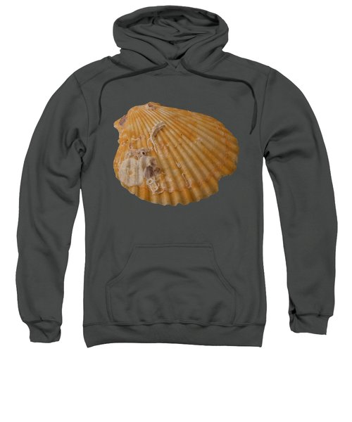 Scallop Shell With Guests Transparency Sweatshirt