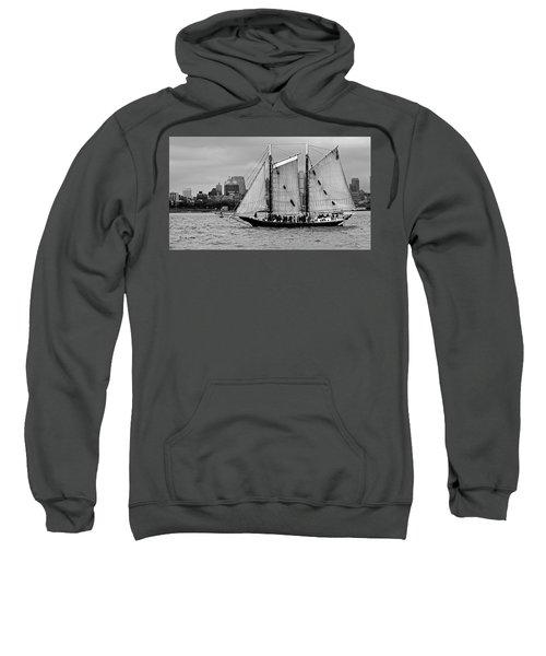 Schooner On New York Harbor No. 1-1 Sweatshirt