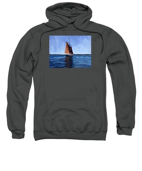 Schooner Roseway In Gloucester Harbor Sweatshirt